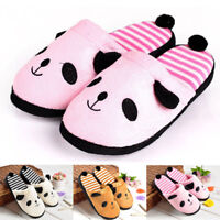 Women Panda Tail Slippers Warm Winter Home Shoes Indoor Slippers Plush Slipper