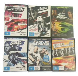 The Fast And The Furious DVD Box Set 1 2 3 4 5 6
