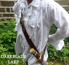 Pirate sword baldric belt larp cosplay theatre jack sparrow carribean buccaneer