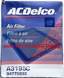 GM Genuine Parts 94775933 Engine Air Filter for Chevy Colorado, ACDelco A3195C