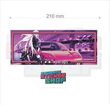 XSWRAPS NSX car slap sticker decal anime jdm jap drift stance 200x80
