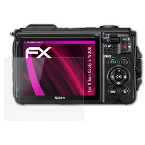 atFoliX Pellicola Vetro per Nikon Coolpix W300 9H Armatura di protezione
