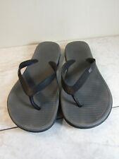 Nike Classic Black/Gray Logo Flip Flop Sandal Men's Shoes Size 9