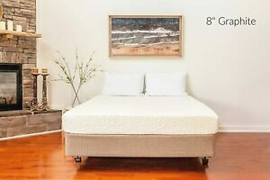 """Excel Sleep 8"""" Graphite Infused Memory Foam Mattress - Handcrafted in The U.S.A."""
