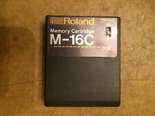 Roland M-16C Memory Cartridge for JX-3P, JX-8P, JX-10, GR-700, TR909 , MKS-10 ,