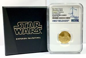 2018 NIUE STAR WARS CLASSIC EMPEROR PALPATINE G$25 1/4oz NGC PF69UC 1st RELEASES