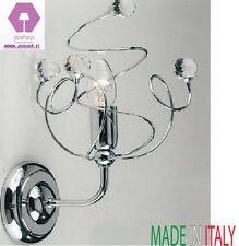 joshop applique 1 luce sfere cristallo cromo lucido moderno mina nuovo da parete