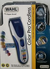Wahl Color Pro Cordless Rechargeable Hair Clipper 21 piece Model 9649