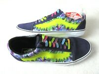 Vans Mens Old Skool Tie Dye Mysterio Canvas Suede Skate Casual shoes Size 12 NWT