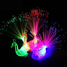 3 Pcs Finger Light Up Ring Laser LED Party Rave Favors Glow Beams Toys Peacock