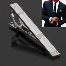 Fashion Formal Business Men's Silver Metal Necktie Tie Clasp Tie Bar Pin Clip FR