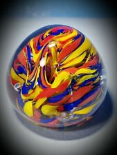 SUPERMAN~GLASS PAPERWEIGHT!! *UNIQUE* HANDBLOWN* RARE* Nice Collection Addition