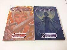Manga Anime Claymore Norihiro Yagi Book Volume 1 - 2