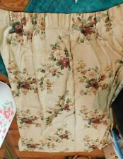 Vintage 1950'S Floral Pattern Pinch Pleated Curtain Panel
