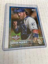 2015 Topps Opening Day BLUE FOIL Derek Norris #74 San Diego Padres Baseball (m)