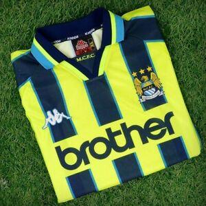 Manchester City Retro 1998 1999 Football Shirt XXL