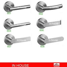 stainless steel door handles passage ,privacy, fixed dummy lever entrance mortic