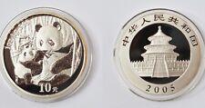 10 Yuan Münze China Silber Feinsilber 1 Unze 1 Oz 2005 Panda Stempelglanz stgl