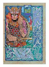 CELTIC IRISH PRINT NUADA THE WARRIOR KING 33x23 By Jim FitzPatrick