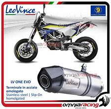 Leovince LV ONE inox terminale scarico Husqvarna 701 Supermoto 2015>2017