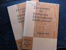 Zeitschr. d. Dt. Geologischen Ges.; Band 128, Teil 1+2, 1977. GEOLOGIE + HYDROGE