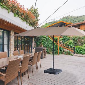 9ft Offset Steel Hanging Outdoor Umbrellas Beige BALI OUTDOORS Patio Cantilever Umbrella Patio Umbrellas