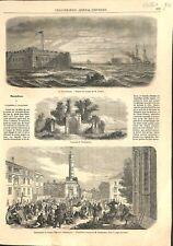 USA Fort Pickens Tombeau de Washington Camp Fédérale Baltimore 1861 ILLUSTRATION