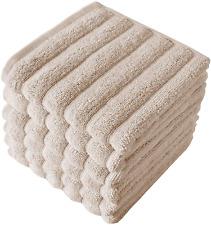 "Pack of 6 Luxury Cotton Wash Cloth Kitchen Bath Hand Towel Set Bathroom 13""x13"""