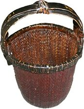 Original Chinese Antique Rattan Carrying Basket (31-075)