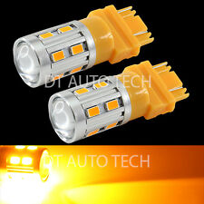 2X 3157/3156 High Power 5630 Chip+Cree LED Amber Yellow Turn Signal Lights Bulbs