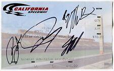 "2002 NASCAR ""Chevy Trucks Pole Day"" Ticket w/ 4 Autographs"