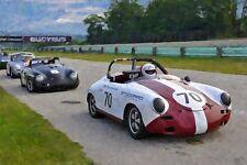 1961 Porsche 356B Vintage Classic Race Car Photo (Ca-0588)