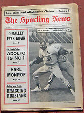MARCH 9, 1968 SPORTING NEWS ST. LOUIS CARDINALS ON COVER BASEBALL