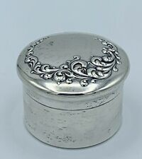 R. Wallace & Sons Antique Sterling Silver Pill Snuff Box