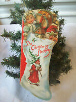 Vintage Christmas Stocking Card Ornament Story Book Merrimack Hong Kong 1980