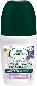 L'Angelica Body Roll On Deodorant 24 h Calm Lavenderd Chamomile Freshness 50 ml