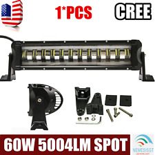 15INCH 60W CREE LED WORK LIGHT BAR SPOT DRIVING FLASHING STROBE LAMP SINGLE ROW