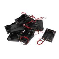 10Pcs Black Plastic Battery Holder Case Cell Box for 3 x 1.5V AA Batteries