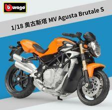Bburago 1:18 Agusta Brutale Oro Bike Motorcycle Model Toy New