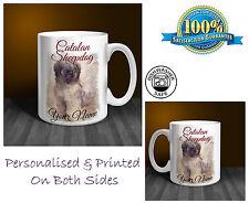 Catalan Sheepdog Personalised Ceramic Mug: Perfect Gift. (D176)