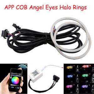 60mm 70mm 80mm 90mm 100mm 110mm 120mm RGB Wifi APP COB LED Angel Eyes Halo Rings