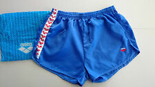 "NEW 40"" Mens Very Rare Vintage ARENA Nylon Satin Shiny Wet Look Sport Shorts 120"