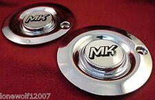 """MK Wheels Chrome Custom Wheel Center Caps Set of 2 # MK1 16""""-17"""""""