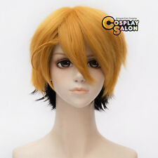 For Black Butler Ronald Knox Anime Unisex Black Mixed Golden Blonde Cosplay Wig