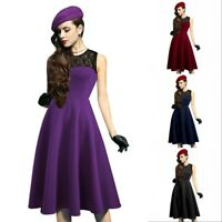 Women Vintage Retro Rockabilly Pinup Swing Party Evening Housewife 50s Dress