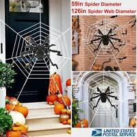 "59"" GIANT Cobweb Mega Spider Web Halloween House Yard Prop Outdoor Decoration"