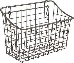 """Spectrum Diversified 10"""" x 5"""" x 7"""" Pegboard & Wall Mount Large Wire Basket for &"""