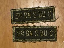 Canadian Army Shoulder Title badge set Combats 5th Service Battalion