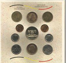 monnaie coffret fleur de coin Royaume Belgique  Belge 1989 stempelglans
