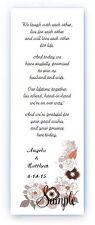 100 Personalized Custom Orange Brown Floral Bridal Wedding Bookmarks Favors
